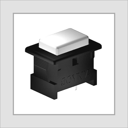 Push Button Rectangular Snap Mounting Switch