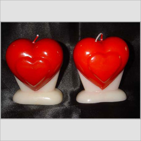 Standing Hearts Candles