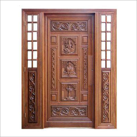 Traditional wooden door in palachode kochi arya bhangy for Traditional wooden door design ideas