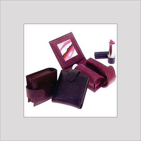 Leather Lipstick Case With Mirror