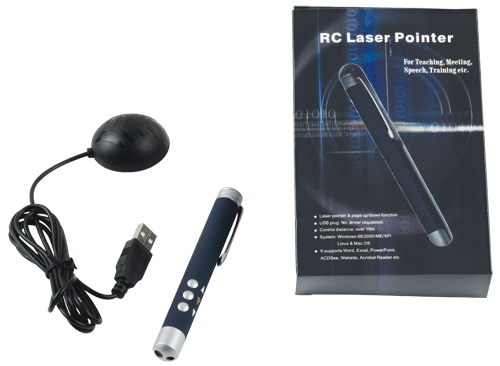 Laser Pointer With Slide Changer