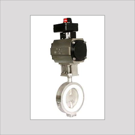 Lined Flap Butterfly Valve With Actuators