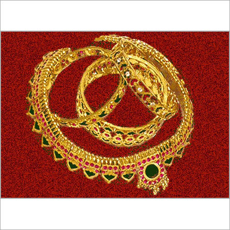 Gold Necklaces with Studded Gemstones in   M.g Road
