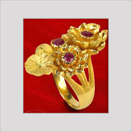 Designer Gold Ring In New Area Bengaluru Karnataka India C