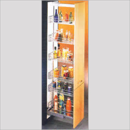 Tall storage unit with adjustable 6 shelves in furniture for Kitchen tall unit design