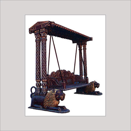 Designer Antique Wooden Swing In Ghatlodiya Ahmedabad Gujarat India Brown Intra Services