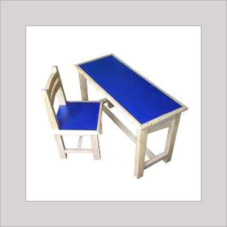 Wooden School Chair & Bench