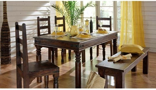 Designer wooden dining table in residency road jodhpur for Dining room designs india