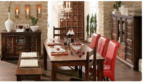 dining room wooden table in residency road jodhpur concept