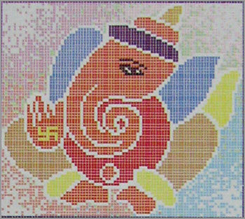 Cad mural tiles ganesha in noida uttar pradesh for Crossing the shallows tile mural