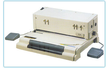 ELECTRIC COIL SPIRAL PUNCH BINDING MACHINE & FOOT PEDAL