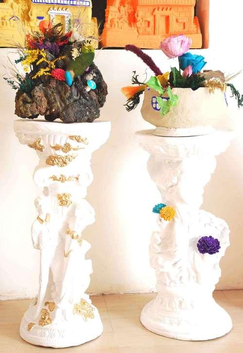 Folk Art Pots