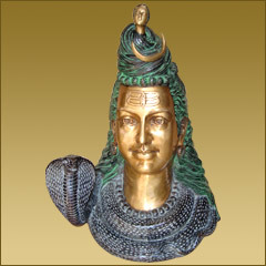 Shiva Head in  Okhla - I