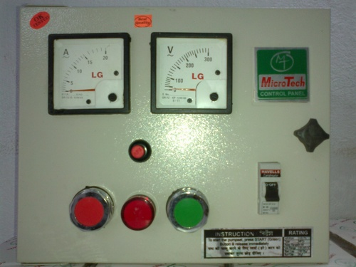 Control Panel For Submersible Motor Pumps In Exhibition