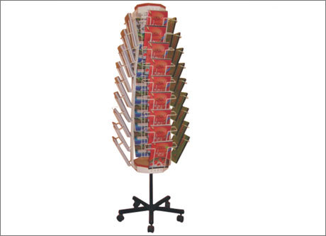 Cap Revolving Magazine Stand With 36 Pockets in  New Area