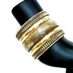 Ethnic Brass Hand Cuffs