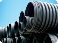 HDPE Double Wall Corrugated Pipes in  Wuqing District