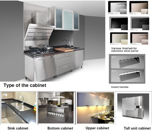 Metal Kitchen Cabinets Manufacturers: Stainless Steel Kitchen Cabinet