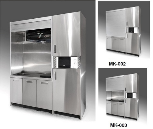 Stainless Steel Modular Kitchen Cabinets: Mini Welding Free Stainless Steel Kitchen Cabinet In