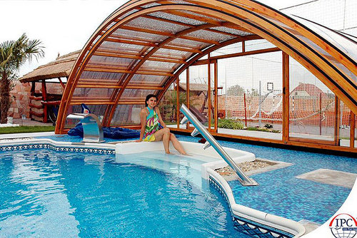 Swimming Pool Retractable Roof Cover In Hrbr Layout