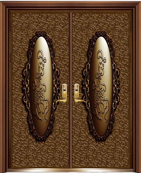 High Quality Copper Carved Security Front Door in Songyang Lishui