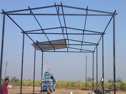 Pre industrial shed in rander surat adarsh fabrication for Terrace shed designs india