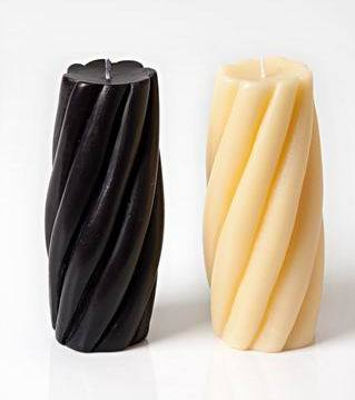 Decorative Ribbed Candle