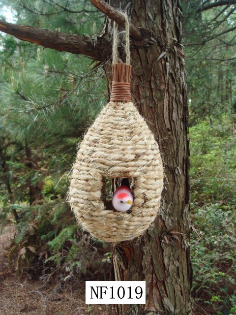 Straw Weave Bird House