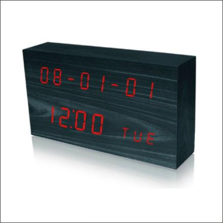 Digital Wooden Clock