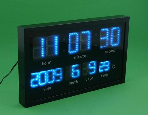 led digital wall clocks in beidou industrial park