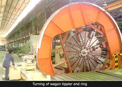Turning Of Wagon Tippler in   ANAND SOJITRA ROAD