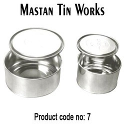 Round Open Mouth Tin Containers