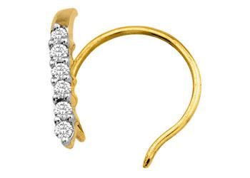 Diamond Nose Pin 0.03Ct