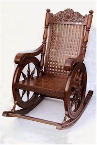 Ship Wheel Rocking Chair in Opp Century Gate Roorkee Exporter
