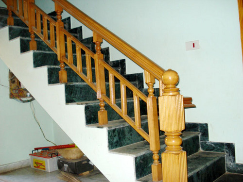 Steam Beach Wooden Stair Railings