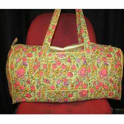 Cotton Hand Printed Travel Bag in  New Area