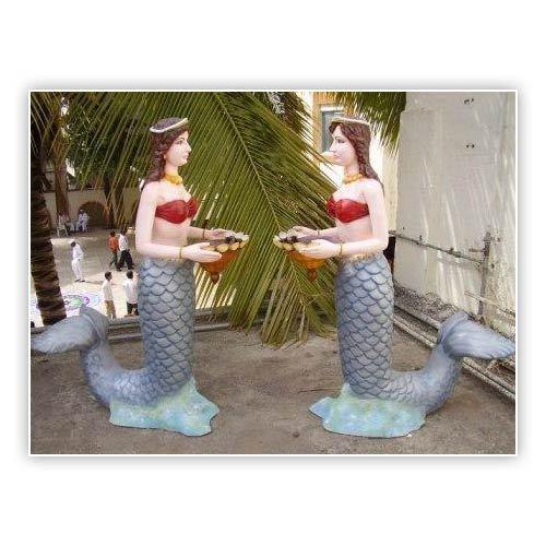 Fiberglass Lady Statue
