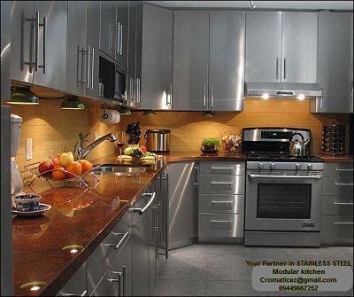 Stainless Steel Modular Kitchen And Wardrobes