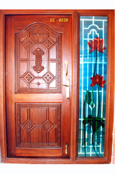Wooden designer doors in thadicombu dindigul manufacturer for Window design tamilnadu