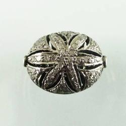 Silver Pave Diamond Beads in  Subhash Nagar