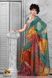 Fruits Collection - Pineapple Saree in  Abhishek Textile Market (Rr)