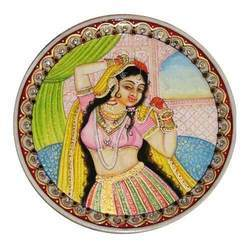 Marble Plates With Golden Paintings