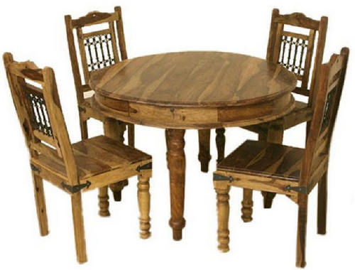 Wooden Round Dining Table In Boranada Jodhpur SHREE NEMI ART EXPORT