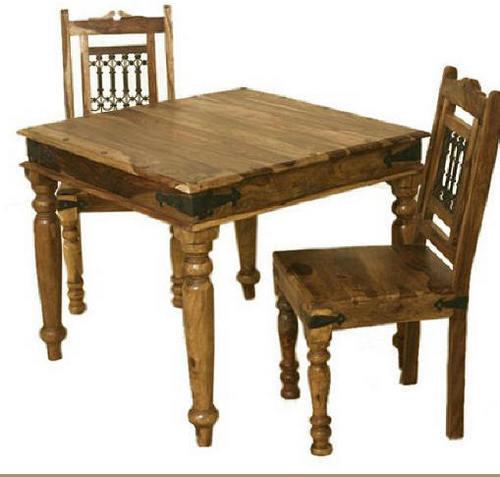Fancy Wooden Square Dining Table In Boranada