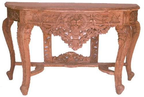Charming Sheesham Wood Carved Console Table In Pal Road
