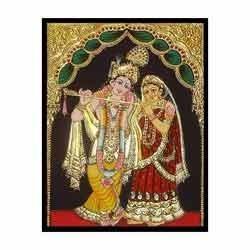 Gold Varakh In Radhe Krishna Paintings