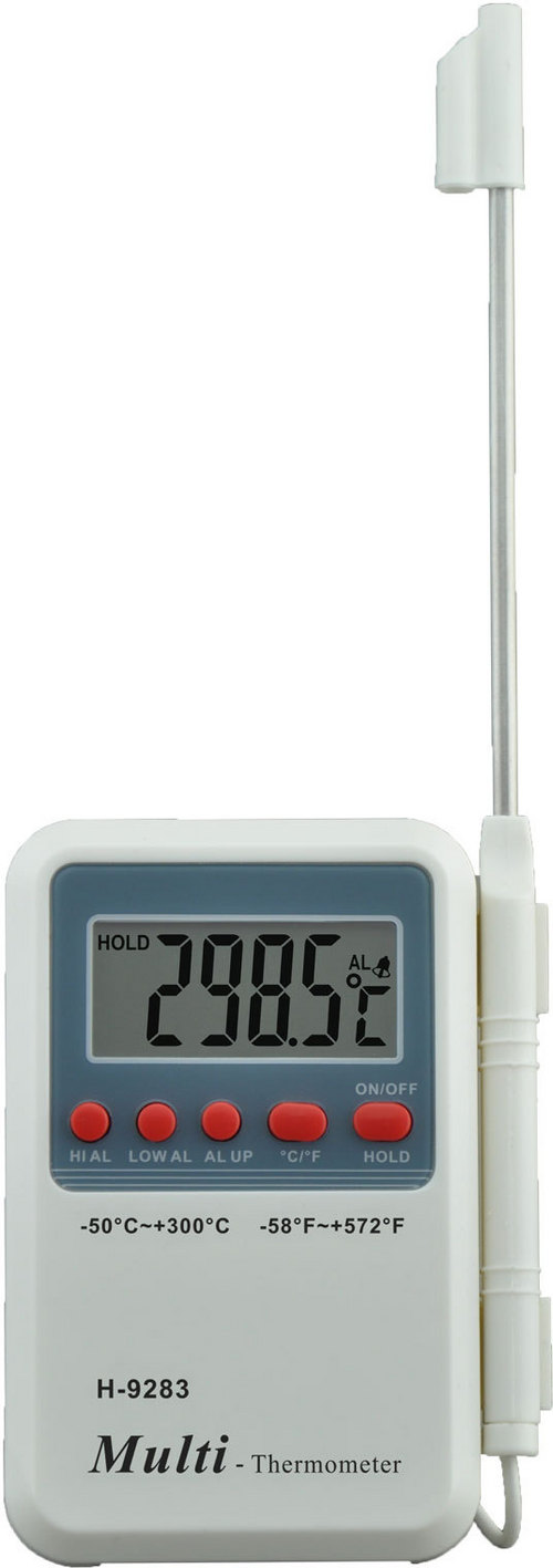 H-9283 Digital Thermometer with High and Low Temperature Alarm
