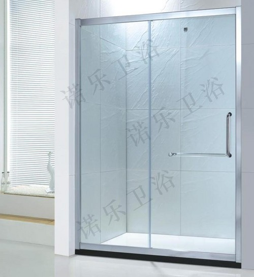 Simple Aluminum Frame Sliding Door Shower Enclosures In