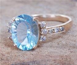 Brazilian Blue Topaz Gemstone Ring
