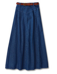 Denim Long Skirt in Chandni Chowk, Delhi | FASHION ERA